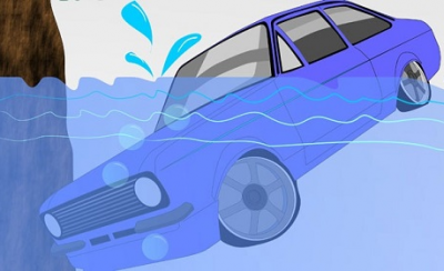 Các bước thoát hiểm khi ô tô rơi xuống nước