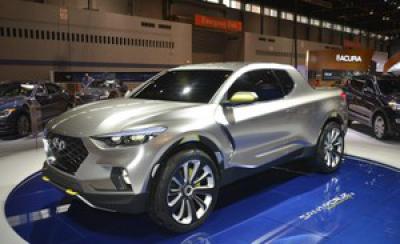 Hé lộ hình ảnh mẫu xe bán tải Hyundai Santa Cruz sắp ra mắt