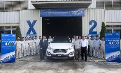 Đại lý Thành Công cho xuất xưởng chiếc Hyundai SantaFe thứ 4.000